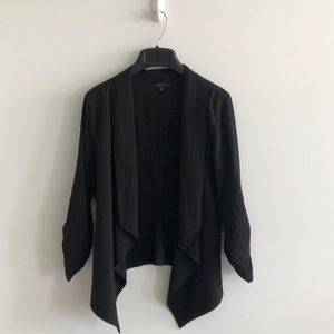 Mine black open front black blazer